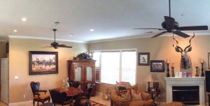 Panoramic view of our family room.