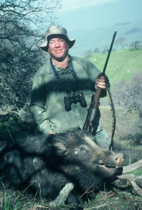 Rob snuck up on the sleeping boar and killed it from about 40 yards in it's bed using dad's .300 Savage.