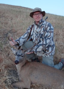 After a few missed opportunities, son-in-law Brett killed his first buck on Sunday morning.
