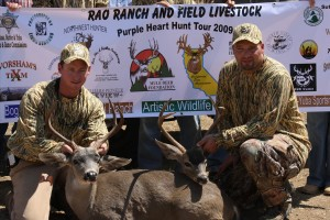 We support the Purple Heart Outdoor Tour Blacktail deer hunt.