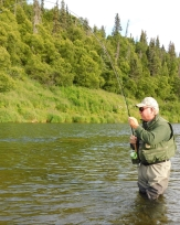 Rob Fletcher fights a sockeye.