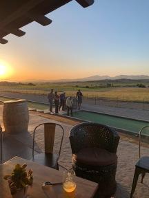 Boce Ball at sunset.